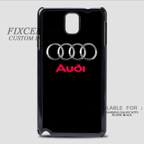 AUDI LOGO - Samsung Galaxy Note 3 Case Black, Samsung Galaxy Note 3 Case - fixcenters, fixcenters  - 1