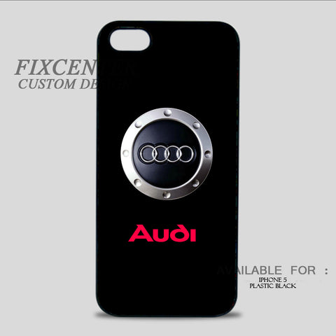 AUDI Engine Symbol - iPhone 5/5S Case iPhone 5 / Plastic / Black, iPhone 5/5S Case - fixcenters, fixcenters  - 1
