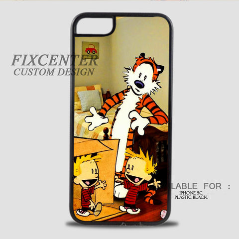 CALVIN AND HOBBES DUPLICATOR - iPhone 5C Case Plastic / Black, iPhone 5C Case - fixcenters, fixcenters  - 1