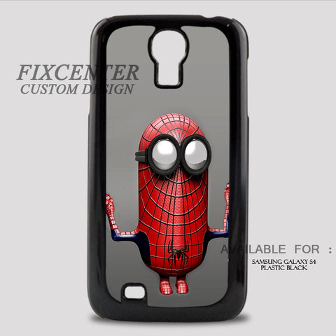 SPIDERMAN MINION - Samsung Galaxy S4 Case Plastic / Black, Samsung Galaxy S4 Case - fixcenters, fixcenters  - 1