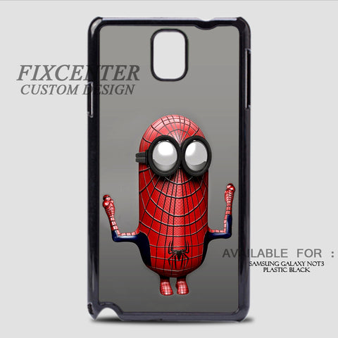SPIDERMAN MINION - Samsung Galaxy Note 3 Case Black, Samsung Galaxy Note 3 Case - fixcenters, fixcenters  - 1