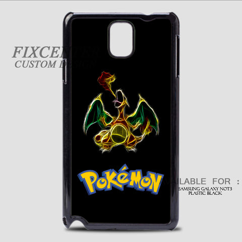 POKEMON CHARIZARD - Samsung Galaxy Note 3 Case Black, Samsung Galaxy Note 3 Case - fixcenters, fixcenters  - 1