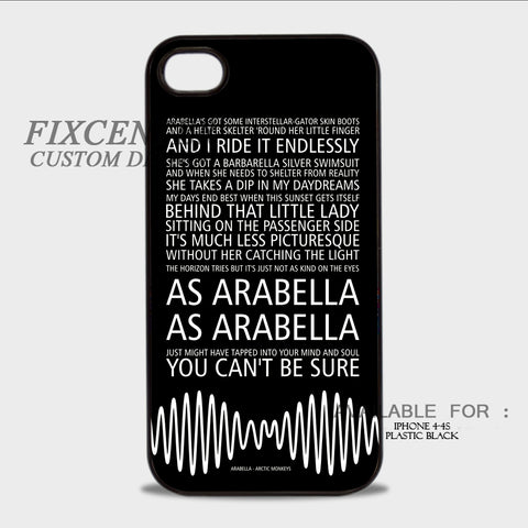 Arctic Monkeys AM Arabella Song - iPhone 4/4S Case Plastic / Black, iPhone 4/4S Case - fixcenters, fixcenters  - 1