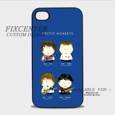 Arctic Monkeys South Park Edition - iPhone 4/4S Case Plastic / Black, iPhone 4/4S Case - fixcenters, fixcenters  - 1