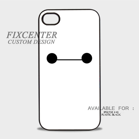 BAYMAX Eyes - iPhone 4/4S Case Plastic / Black, iPhone 4/4S Case - fixcenters, fixcenters  - 1