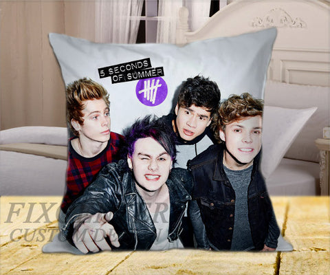 "5SOS Funny Selfie on Square Pillow Cover 16"" X 16"" / one side, Square Pillow Case - fixcenters, fixcenters"