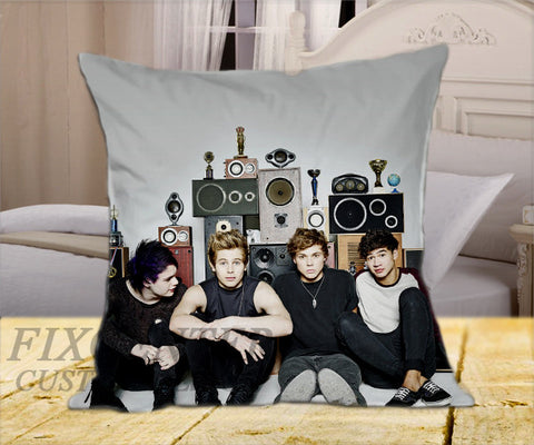 "5 SOS Cover on Square Pillow Cover 16"" X 16"" / one side, Square Pillow Case - fixcenters, fixcenters"