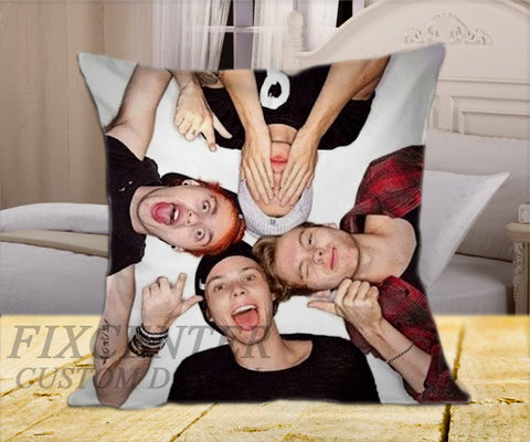 "5 SOS Pose on Square Pillow Cover 16"" X 16"" / one side, Square Pillow Case - fixcenters, fixcenters"