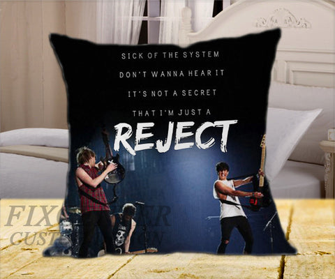 "5 Seconds Of Summer Rejects Cover on Square Pillow Cover 16"" X 16"" / one side, Square Pillow Case - fixcenters, fixcenters"