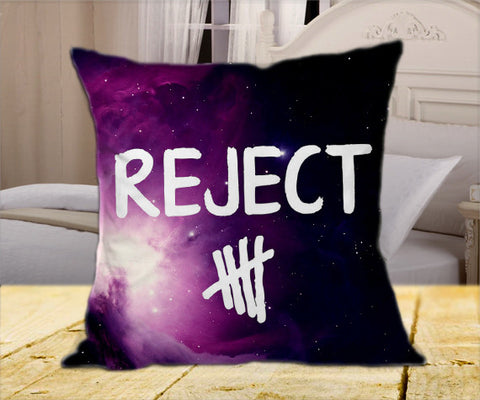 "5 Seconds Of Summer Rejects Logo on Square Pillow Cover 16"" X 16"" / one side, Square Pillow Case - fixcenters, fixcenters"