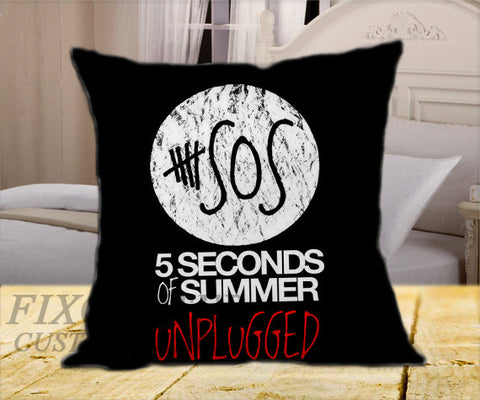 "5 Seconds of Summer Unplugged on Square Pillow Cover 16"" X 16"" / one side, Square Pillow Case - fixcenters, fixcenters"