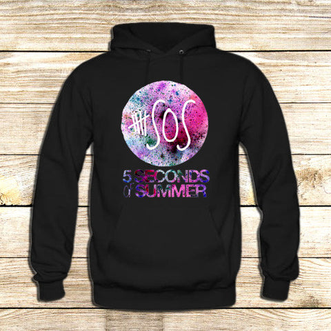 5 seconds of Summer Galaxy Logo on Hoodie Jacket XS / Black, hoodie - fixcenters, fixcenters  - 1