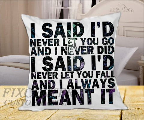 "A Day To Remember I Said Never Let You Go on Square Pillow Cover 16"" X 16"" / one side, Square Pillow Case - fixcenters, fixcenters"
