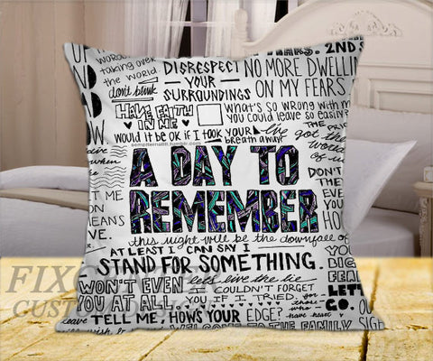"A Day to remember Have Faith In Me BW on Square Pillow Cover 16"" X 16"" / one side, Square Pillow Case - fixcenters, fixcenters"