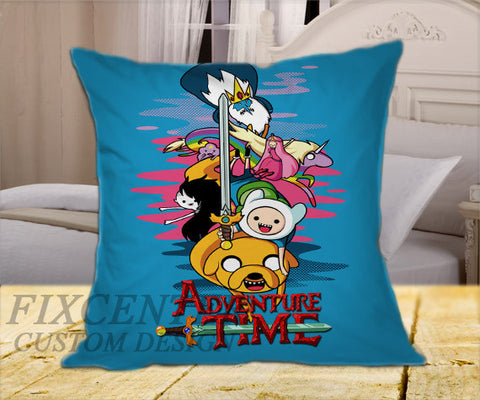 "Adventure Time Movie on Square Pillow Cover 16"" X 16"" / one side, Square Pillow Case - fixcenters, fixcenters"