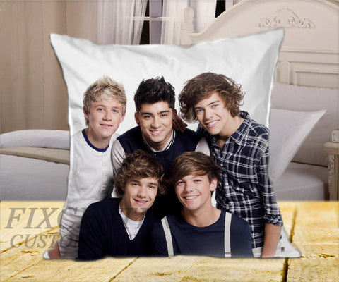 "All One Direction  on Square Pillow Cover 16"" X 16"" / one side, Square Pillow Case - fixcenters, fixcenters"