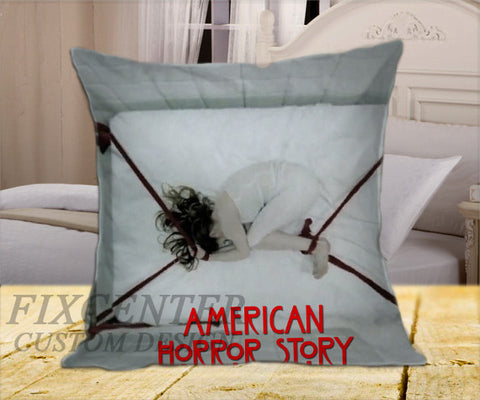 "American Horor Story Movie on Square Pillow Cover 16"" X 16"" / one side, Square Pillow Case - fixcenters, fixcenters"