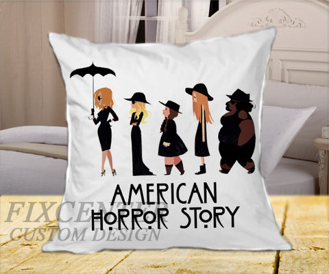 "American Horror Story Coven on Square Pillow Cover 16"" X 16"" / one side, Square Pillow Case - fixcenters, fixcenters"
