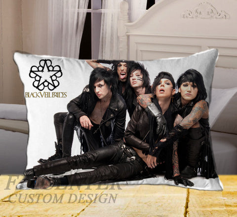 "Andy Biersack Black Veil Brides on Rectangle Pillow Cover 20"" X 26"" / one side, Rectangle Pillow Case - fixcenters, fixcenters"