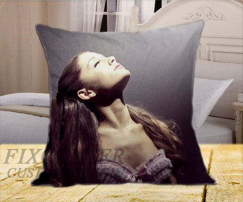 "Ariana Grande Pose on Square Pillow Cover 16"" X 16"" / one side, Square Pillow Case - fixcenters, fixcenters"