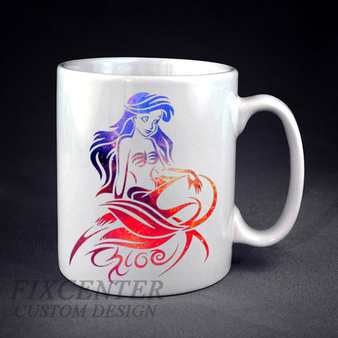 Ariel Little Mermaid Galaxy Personalized mug/cup , mug / cup - fixcenters, fixcenters  - 1