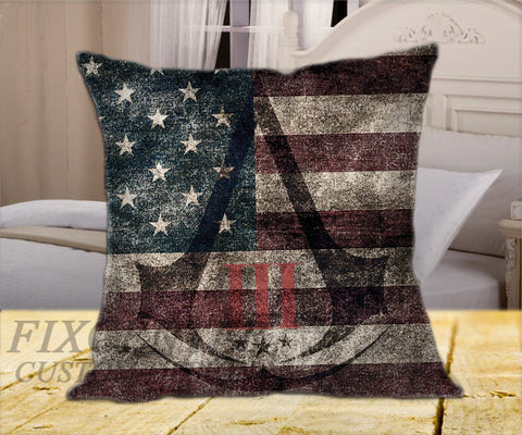 "Assassin's Creed III on Square Pillow Cover 16"" X 16"" / one side, Square Pillow Case - fixcenters, fixcenters"