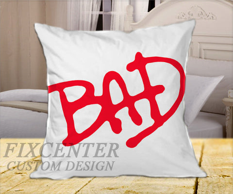 "BAD Tribute MiCHAEL JACKSON on Square Pillow Cover 16"" X 16"" / one side, Square Pillow Case - fixcenters, fixcenters"