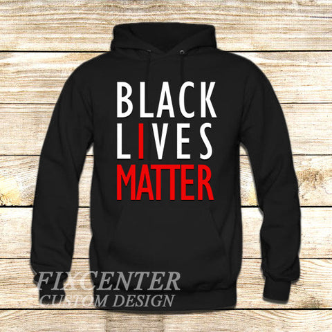BLACK LIVES MATTER on Hoodie Jacket XS / Black, hoodie - fixcenters, fixcenters  - 1