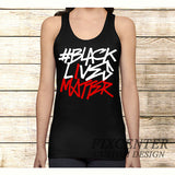BLACK LIVES MATTER Typography on Tank Top Apparel S / Black / Men, Tank Top - fixcenters, fixcenters  - 1