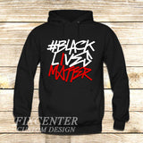 BLACK LIVES MATTER Typography on Hoodie Jacket XS / Black, hoodie - fixcenters, fixcenters  - 1