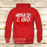 BLACK LIVES MATTER Typography on Hoodie Jacket XS / Red, hoodie - fixcenters, fixcenters  - 5