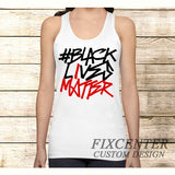 BLACK LIVES MATTER Typography on Tank Top Apparel S / White / Men, Tank Top - fixcenters, fixcenters  - 2