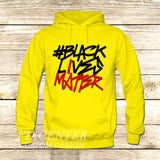 BLACK LIVES MATTER Typography on Hoodie Jacket XS / Yellow, hoodie - fixcenters, fixcenters  - 7