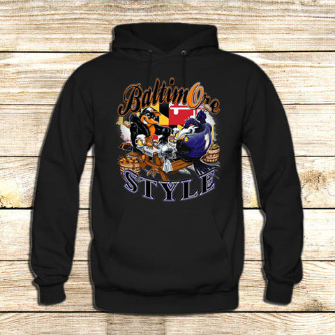 Baltimore city skyline on Hoodie Jacket XS / Black, hoodie - fixcenters, fixcenters  - 1
