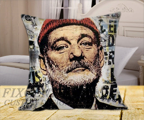 "Bill Murray  on Square Pillow Cover 16"" X 16"" / one side, Square Pillow Case - fixcenters, fixcenters"