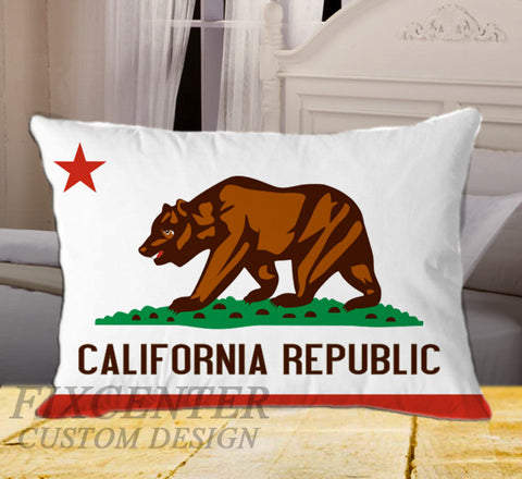 "California State Flag on Rectangle Pillow Cover 20"" X 26"" / one side, Rectangle Pillow Case - fixcenters, fixcenters"