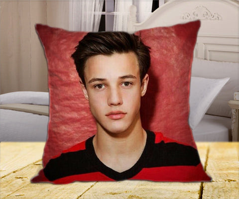 "Cameron Famous Dallas  Boys on Square Pillow Cover 16"" X 16"" / one side, Square Pillow Case - fixcenters, fixcenters"