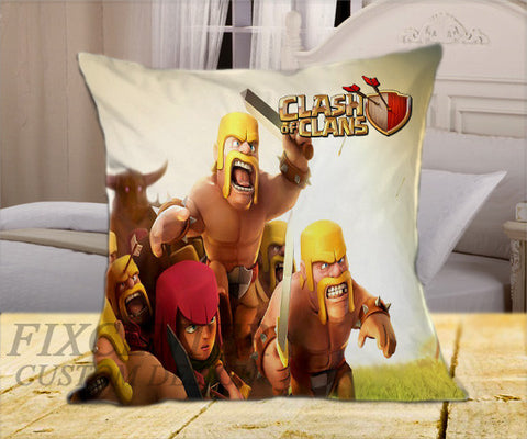 "Clas of Clans on Square Pillow Cover 16"" X 16"" / one side, Square Pillow Case - fixcenters, fixcenters"