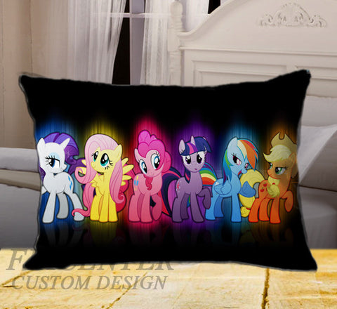 "Cute My Little Pony Ponies Glow Picture on Rectangle Pillow Cover 20"" X 26"" / one side, Rectangle Pillow Case - fixcenters, fixcenters"