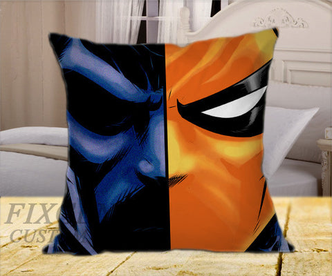 "Deathstroke on Square Pillow Cover 16"" X 16"" / one side, Square Pillow Case - fixcenters, fixcenters"