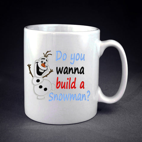 Disney Olaf Quote Do You Wanna Build a Snowman Personalized mug/cup , mug / cup - fixcenters, fixcenters  - 1