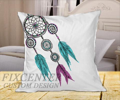 "Dreamcatcher  on Square Pillow Cover 16"" X 16"" / one side, Square Pillow Case - fixcenters, fixcenters"