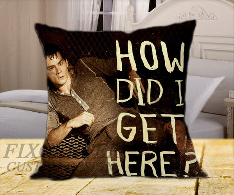 "Dylan Obrien How Did I on Square Pillow Cover 16"" X 16"" / one side, Square Pillow Case - fixcenters, fixcenters"