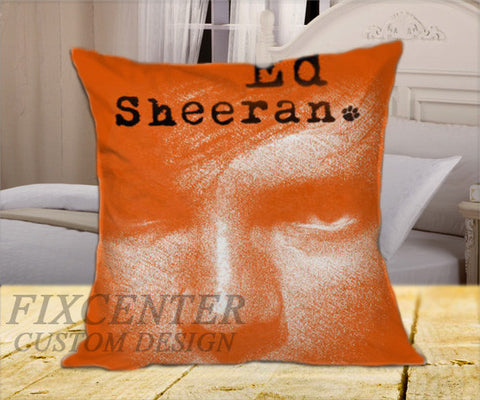 "Ed Sheeran Eyes on Square Pillow Cover 16"" X 16"" / one side, Square Pillow Case - fixcenters, fixcenters"