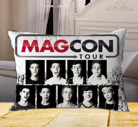 "Famous Mag Boys Band Tour on Rectangle Pillow Cover 20"" X 26"" / one side, Rectangle Pillow Case - fixcenters, fixcenters"