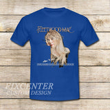 Fleetwood Mac Tour Stevie Nicks Godmother of Rock on T shirt S / Blue / Men, tshirt - fixcenters, fixcenters  - 2