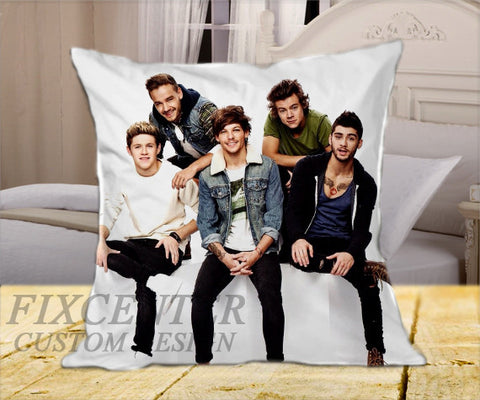 "Funny One Direction Cover  on Square Pillow Cover 16"" X 16"" / one side, Square Pillow Case - fixcenters, fixcenters"