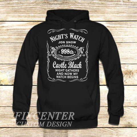 Game of Thrones Nights Watch Jon Snow TV Show on Hoodie Jacket XS / Black, hoodie - fixcenters, fixcenters  - 1