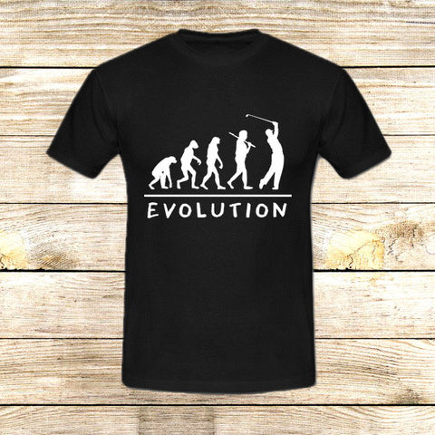 Golf Evolution funny on T shirt S / Black / Men, tshirt - fixcenters, fixcenters  - 1