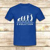 Golf Evolution funny on T shirt S / Blue / Men, tshirt - fixcenters, fixcenters  - 2